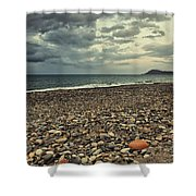 Moody Landscape Shower Curtain
