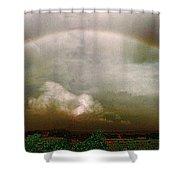Moody Rainbow Panorama Shower Curtain