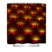 Moody Red Shower Curtain