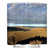 Moody Skies Over An Adobe Shower Curtain