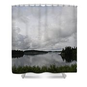Moody Sky Over Campobello Bay Shower Curtain
