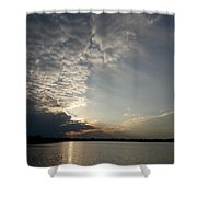 Moody Sunset Shower Curtain