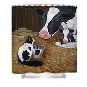 Mooeow Shower Curtain