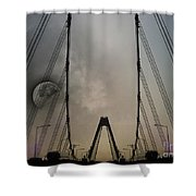 Moon And A Bridge Shower Curtain