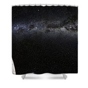 Moon And Galaxy. Shower Curtain