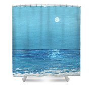 Moon And Meteor Shower Curtain