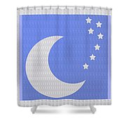 Moon And Stars With Crystal Stone Healing Energy Plates By Side Navinjoshi Rights Managed Images For Shower Curtain