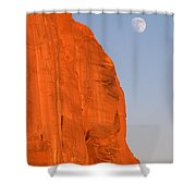 Moon At Monument Valley Shower Curtain
