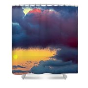 Moon At Sunset  Shower Curtain