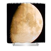 Moon Craters Galore Shower Curtain