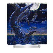 Moon Doggie Off00124 Shower Curtain