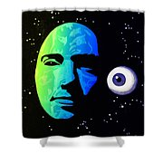 Moon Eye Bi Color Shower Curtain