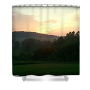 Moon Flower Sunrise Shower Curtain