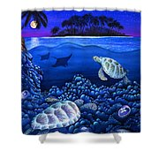 Moon Glow Shower Curtain by Carolyn Steele