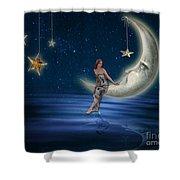 Moon Goddess Shower Curtain by Juli Scalzi
