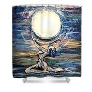 Moon Goddess Shower Curtain
