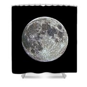 Moon Hdr Shower Curtain
