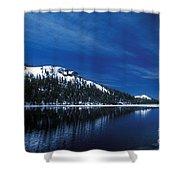 Moon - Lake Shower Curtain