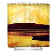 Moon Landscape Shower Curtain