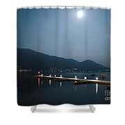 Moon Light And A Port Shower Curtain