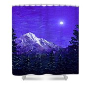 Moon Mountain Shower Curtain