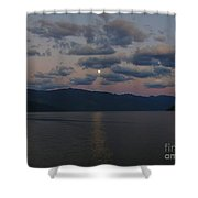 Moon On The Lake Shower Curtain