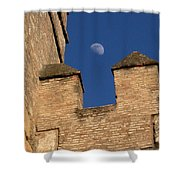 Moon Over Alcazar Shower Curtain