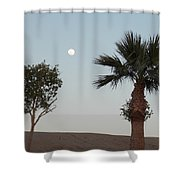 Moon Over Baja Desert Shower Curtain
