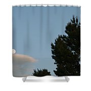 Moon Over Cloud Shower Curtain
