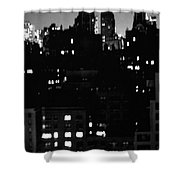 Moon Over Manhattan Shower Curtain