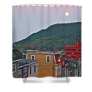 Moon Over Saint John's-nl Shower Curtain