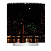 Moon Over San Diego Shower Curtain