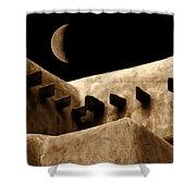 Moon Over Santa Fe Shower Curtain
