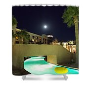 Moon Over The Casino Shower Curtain