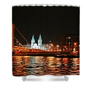 Moon Over The Danube Shower Curtain