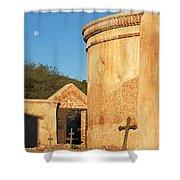 Moon Over Tumacacori Mortuary Shower Curtain