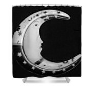 Moon Phase In Black And White Shower Curtain