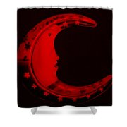 Moon Phase In Blood Red Shower Curtain