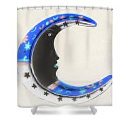 Moon Phase In Inverted Colors Shower Curtain