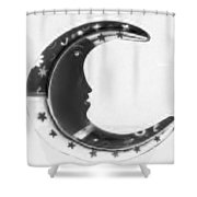 Moon Phase In Negative Shower Curtain