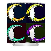 Moon Phase In Pf Quad Colors Shower Curtain