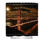 Moon Rise San Francisco Golden Gate Bridge Shower Curtain