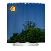 Moon Rising At The Lake House 05/24/13 Oakland County Mi Shower Curtain