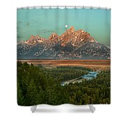Moon Setting Shower Curtain