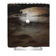 Moon Shine 2 Shower Curtain