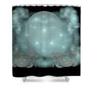 Moon Stars And Clouds Shower Curtain