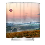 Moon Valley Morning Shower Curtain