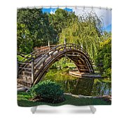 Moonbridge - The Beautifully Renovated Japanese Gardens At The Huntington Library. Shower Curtain