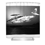Moonlight Buckeye T 2c Training Mission Shower Curtain