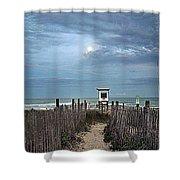Moonlight Drama On The Beach Shower Curtain